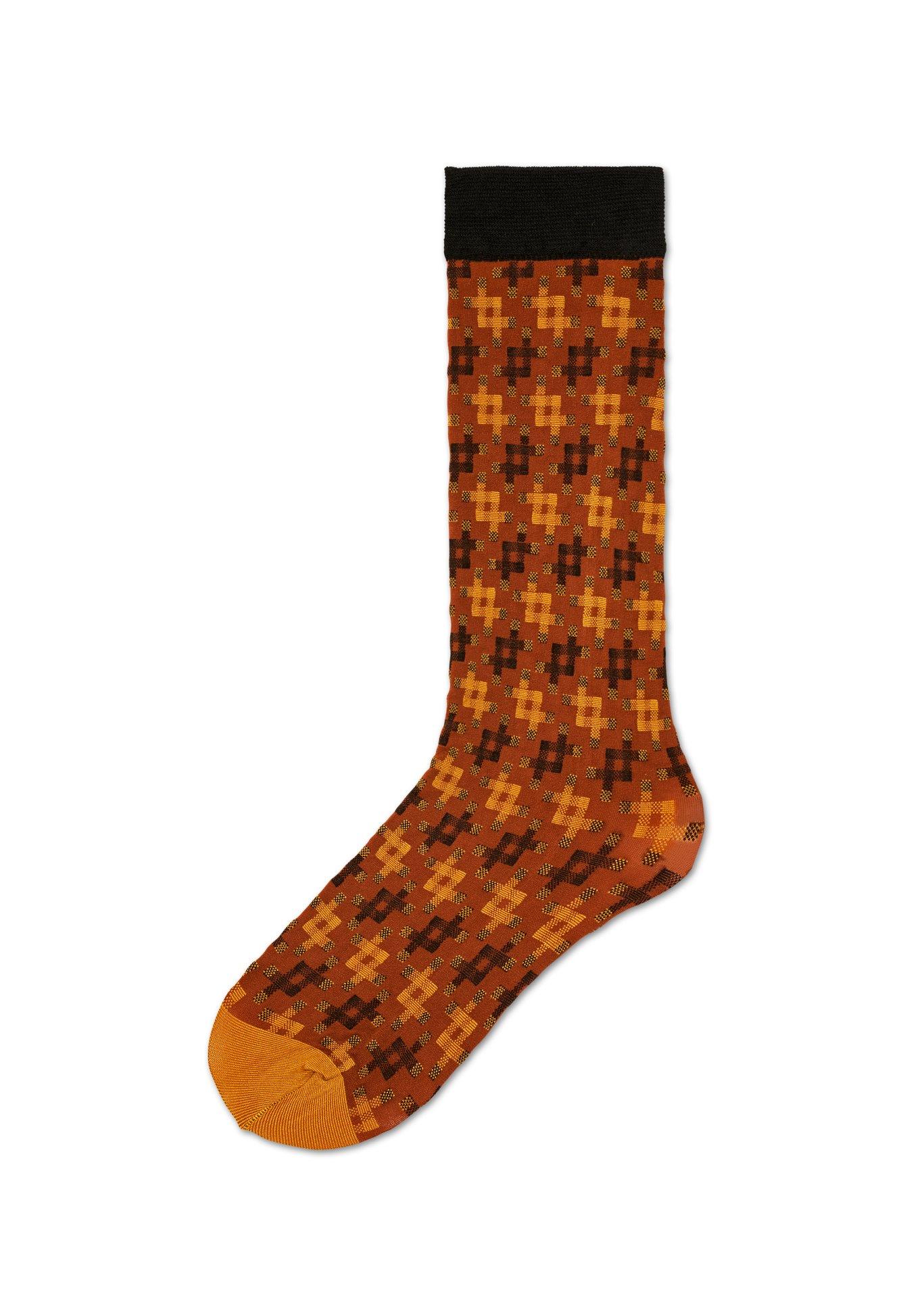 Dámské hnědé podkolenky Happy Socks Lovisa    kolekce Hysteria ... d8c27be3be
