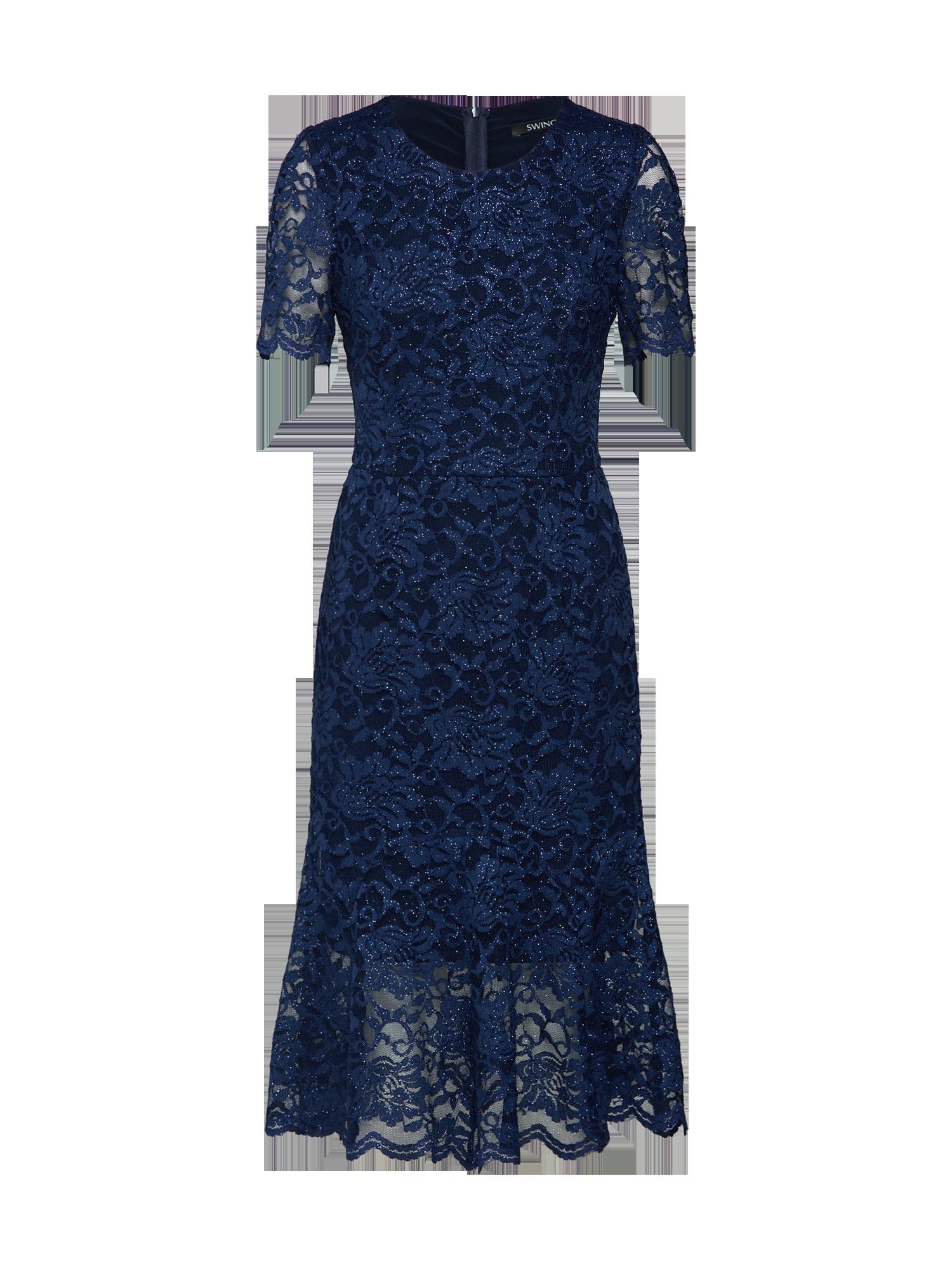 cb7373aaff SWING Kokteilové šaty Modré - Glami.sk