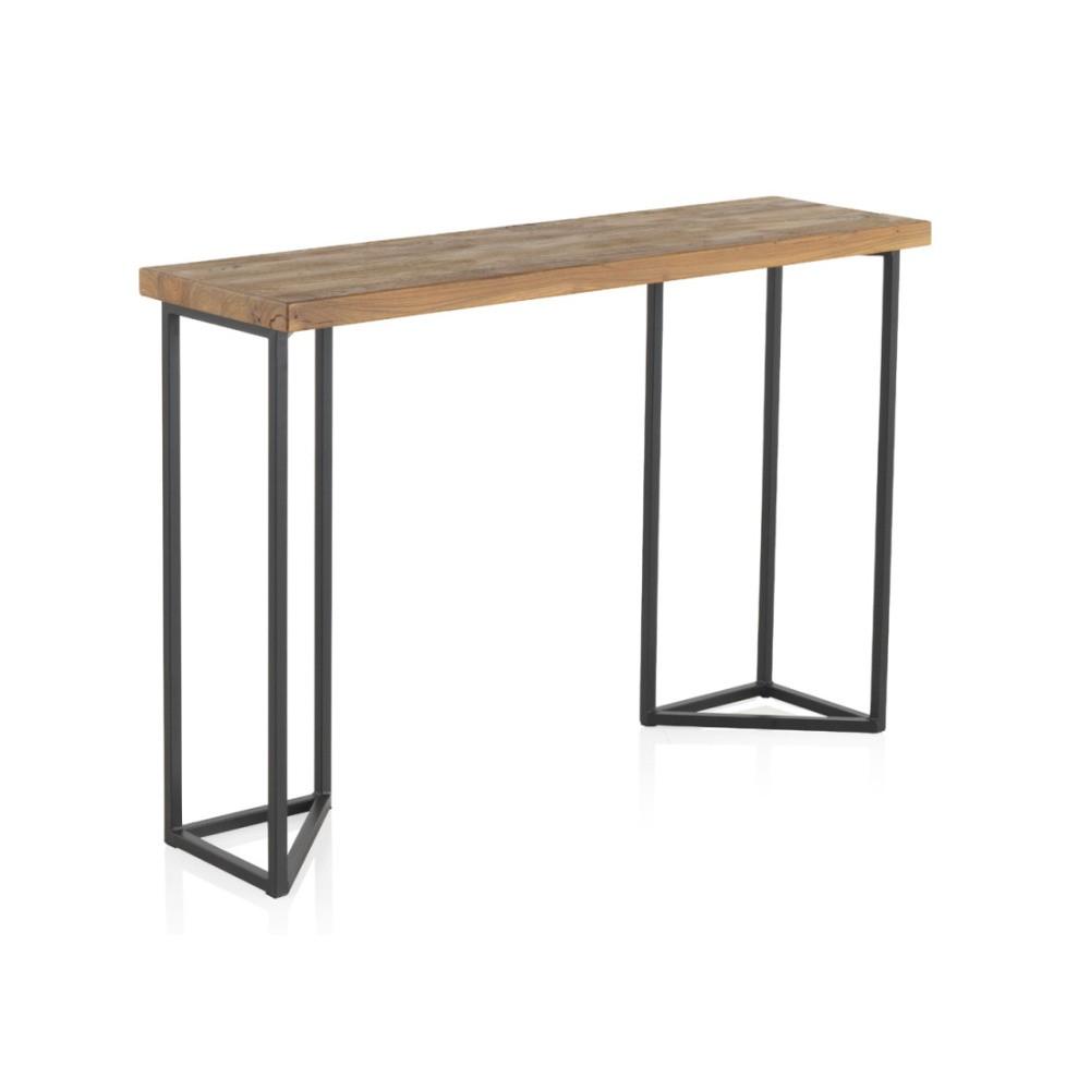 a91d475c8bce Konzolový stolík s doskou z brestového dreva Geese Lorena