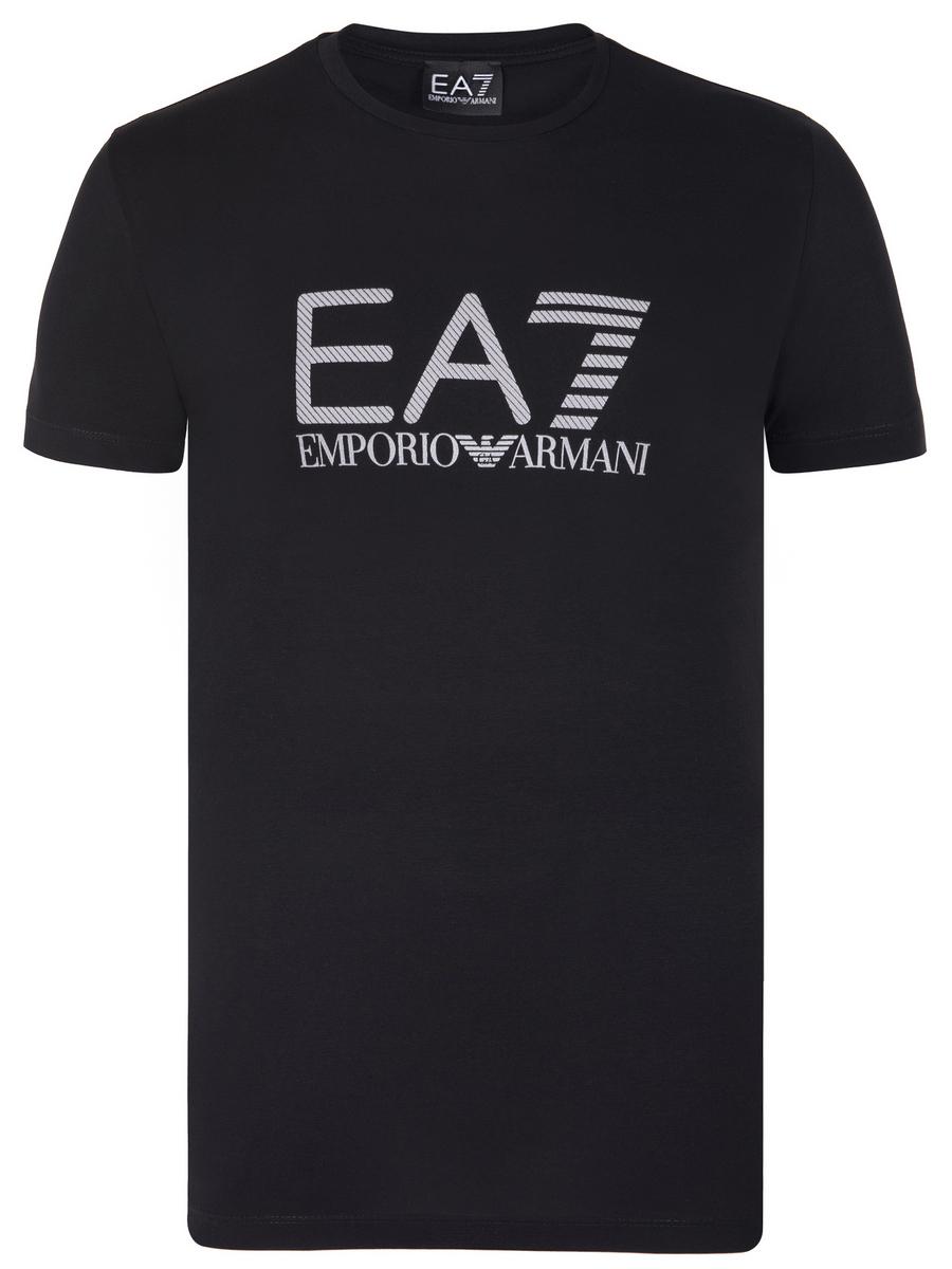 Černo-šedé tričko z prémiové bavlny od Emporio Armani - Glami.cz 6afcbea9b90
