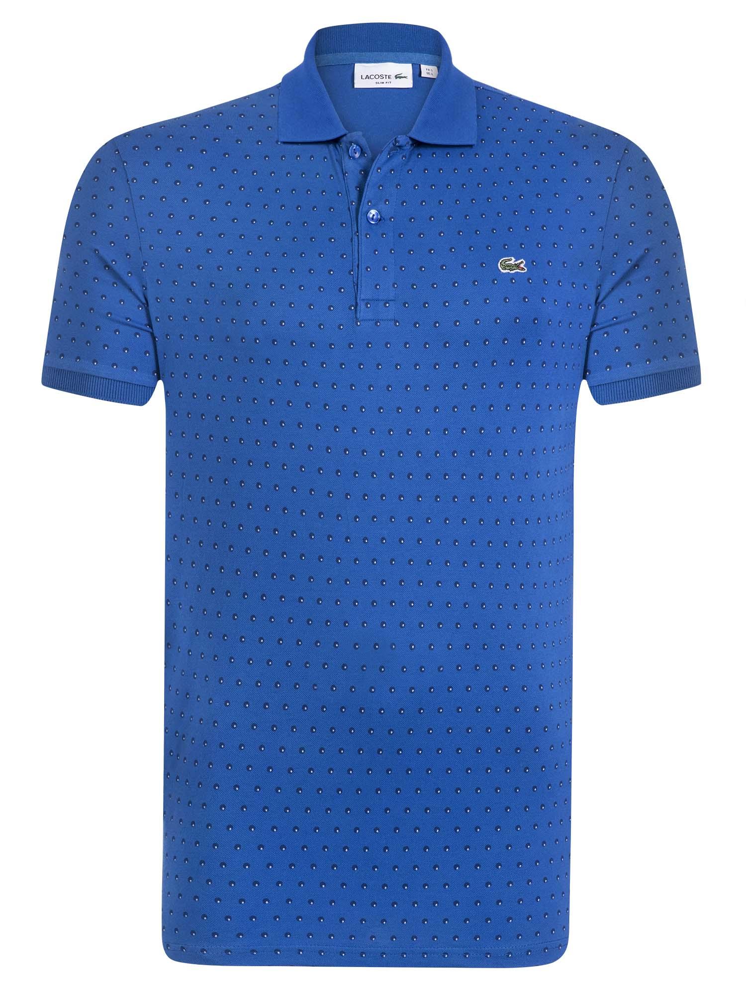 Modrá elegantní polokošile s puntíky od Lacoste - Glami.cz 407cfaef6dc
