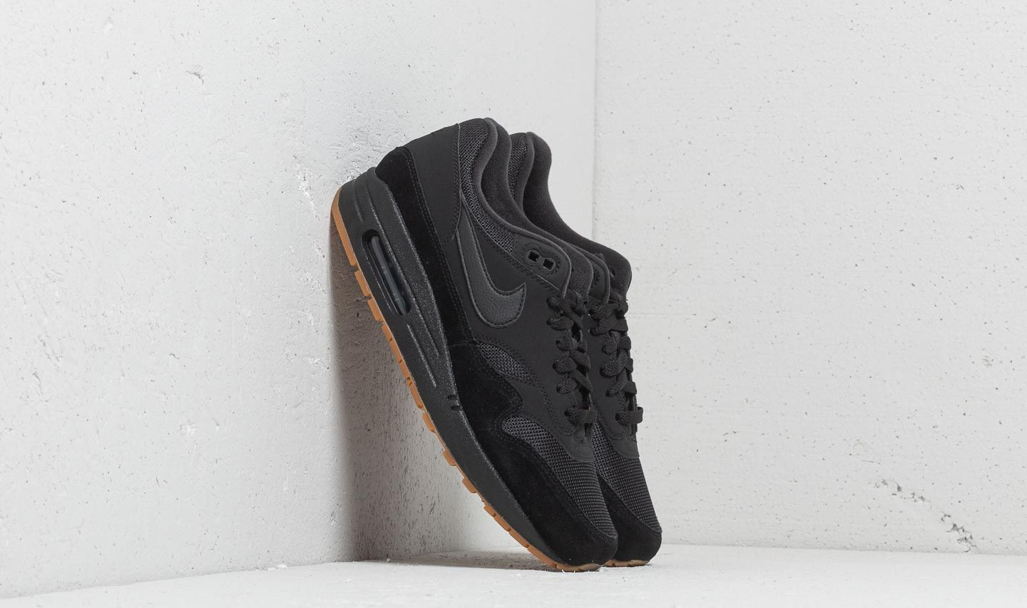 low priced 1fc2e 61b54 Nike Air Max 1 Black  Black-Black-Gum Med Brown. 1