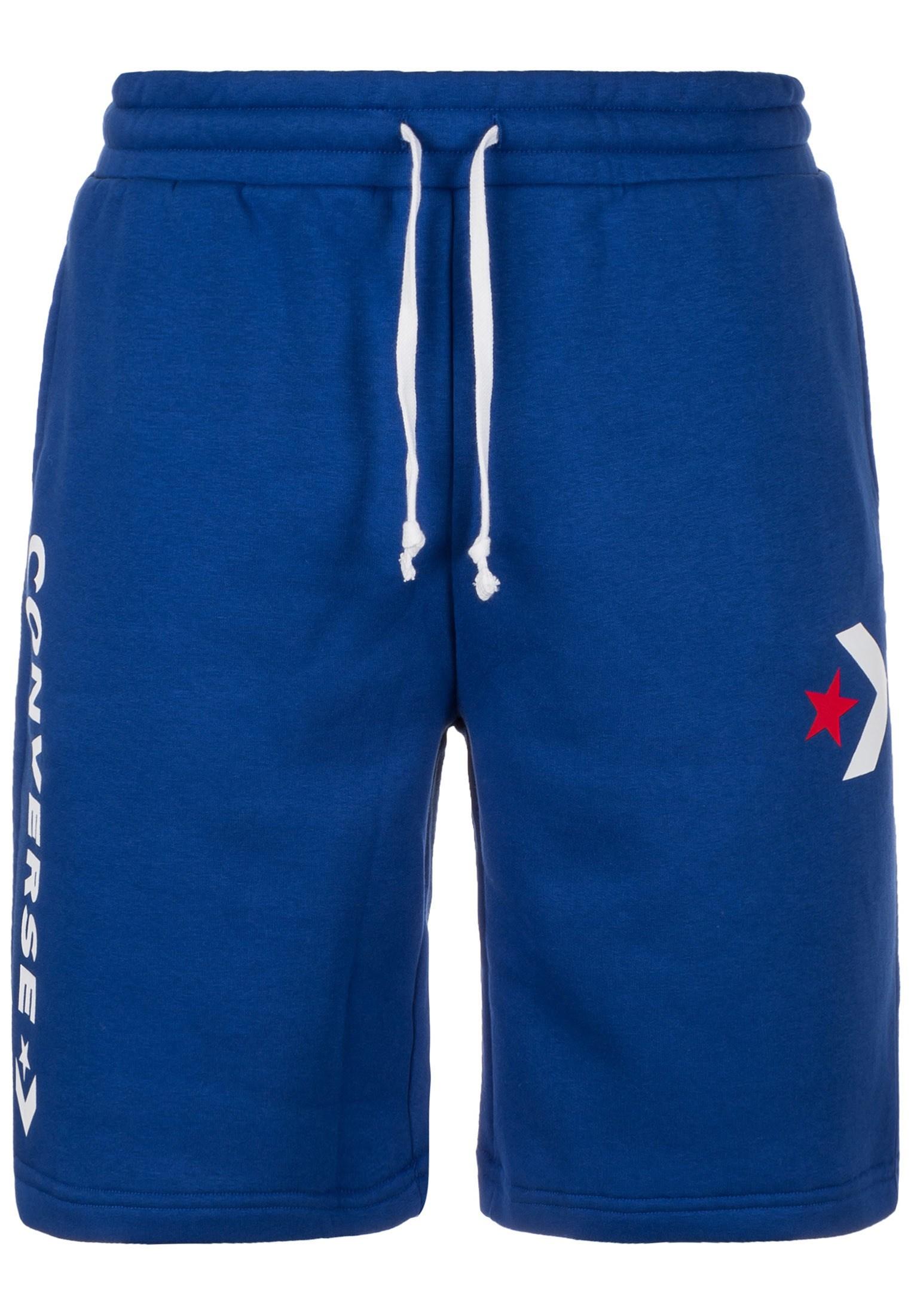 b9551179f5d CONVERSE Kalhoty  Star Chevron Graphic  modrá   světle červená ...