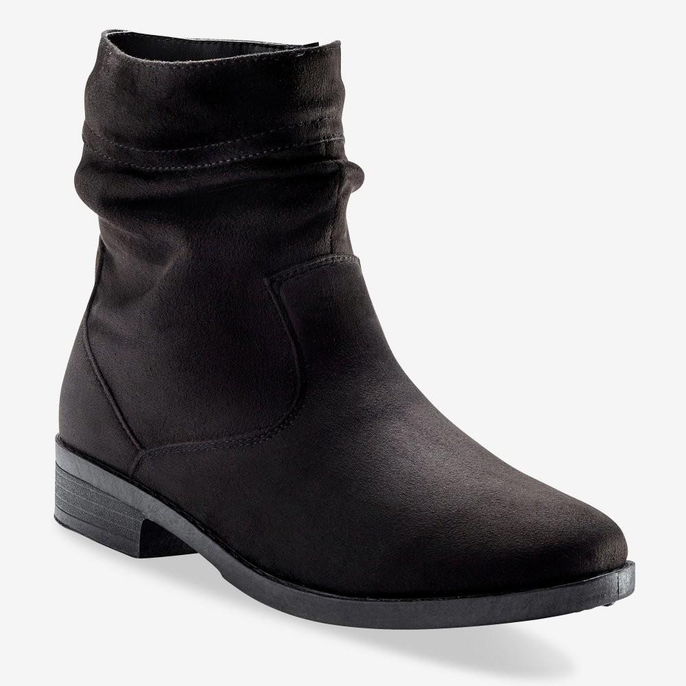 Blancheporte Ploché nízke čižmy na zips čierna 38 - Glami.sk bf1bf71fe75