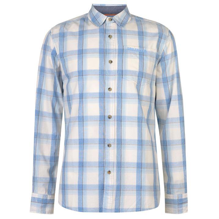 SoulCal Co. Pánská košile SoulCal Check dlouhý rukáv Cream - Glami.cz 862e612437