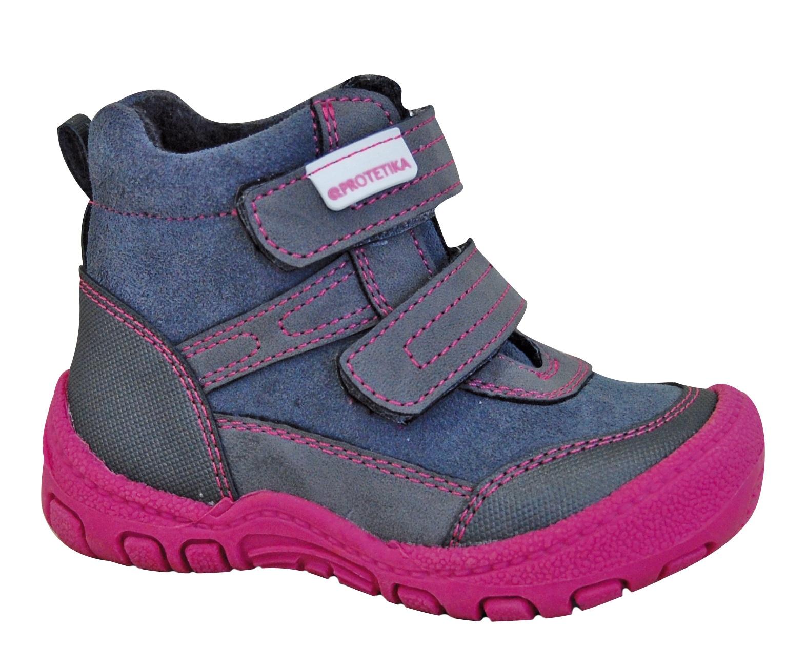 Protetika Dievčenské zimné topánky Mel - šedo-ružové - Glami.sk 577471e6ec1