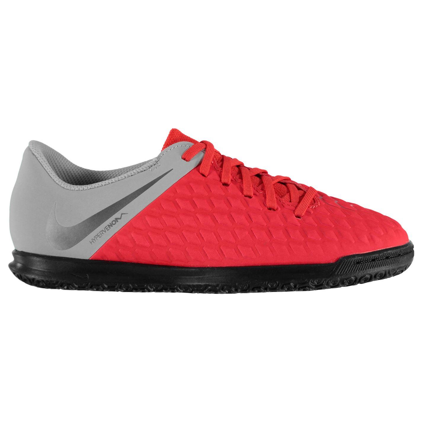 cca22c28ebd Nike Hypervenom Phantom Club Junior Indoor Football Trainers Crimson Grey. 1