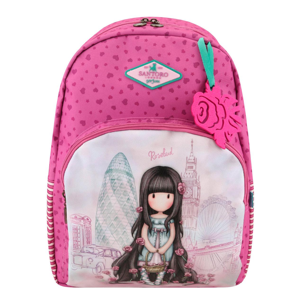 Santoro velký růžový batoh Gorjuss Rosebud Rosie - Glami.cz f535cc46cb