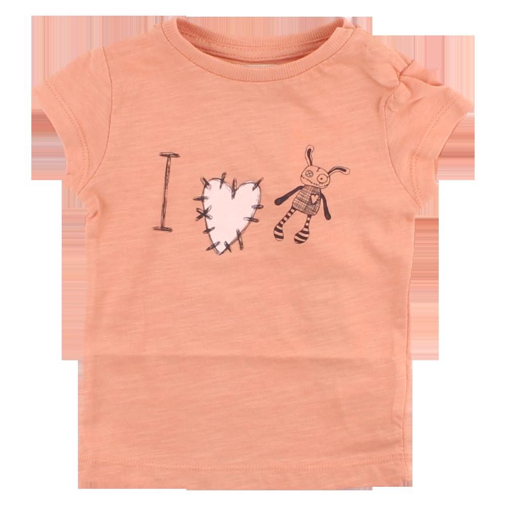 b801f48590b SMALL RAGS dívčí tričko s krátkým rukávem a potiskem - oranžové ...