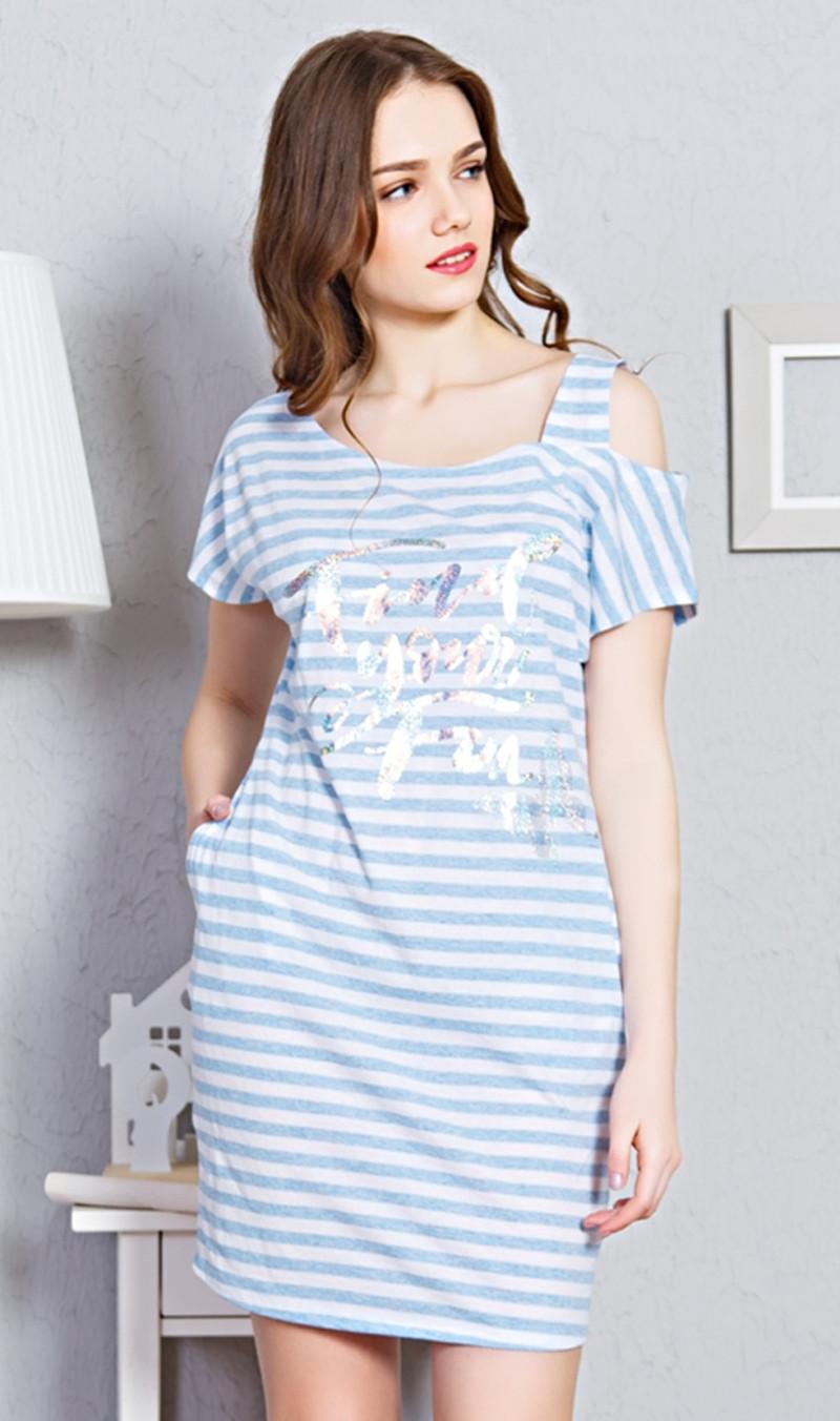 7912273acccf Vienetta Dámske domáce šaty s krátkym rukávom Karolína - Glami.sk