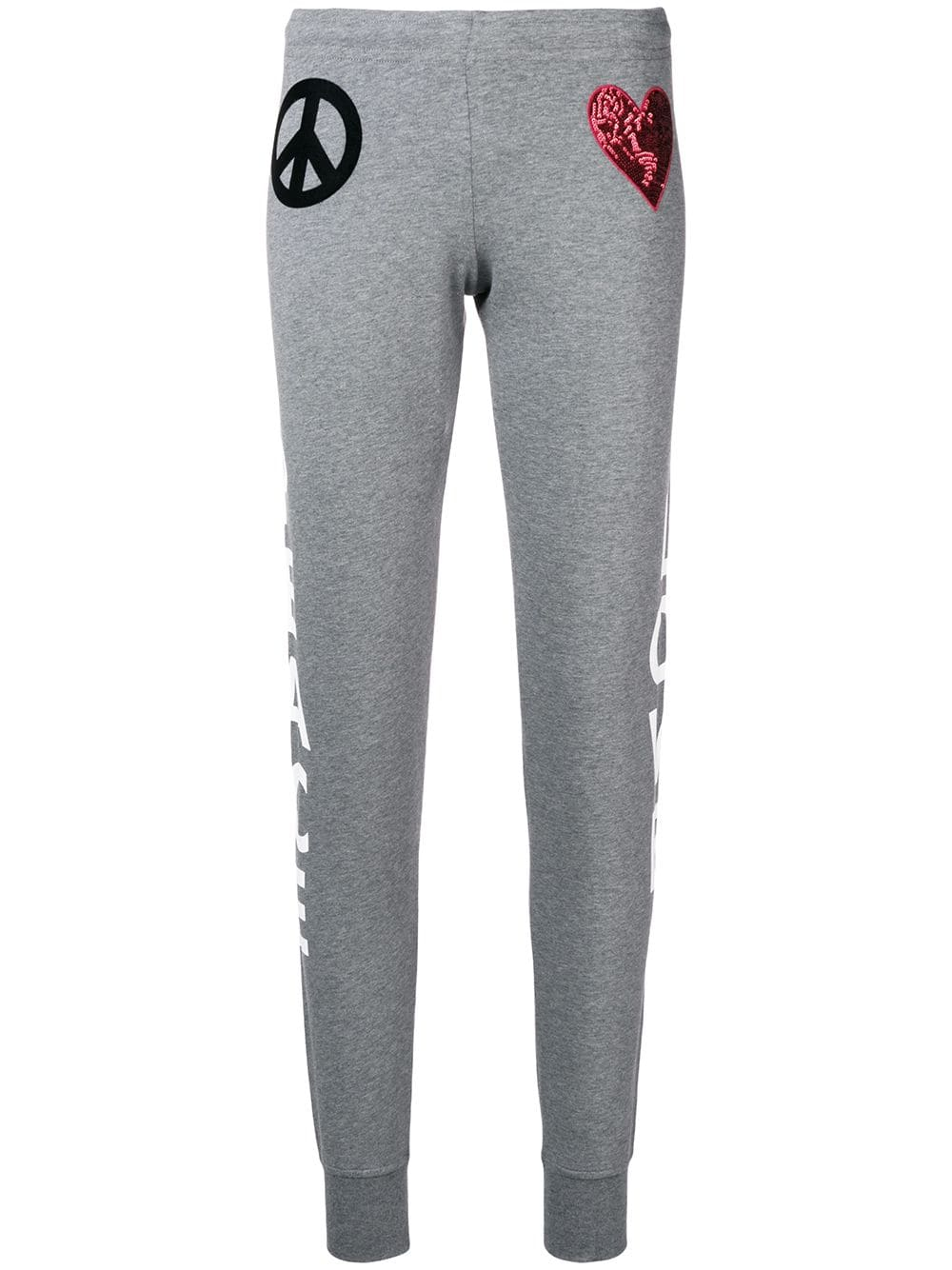 Love Moschino peace and love track pants - Grey - Glami.sk 56b6cb6749e