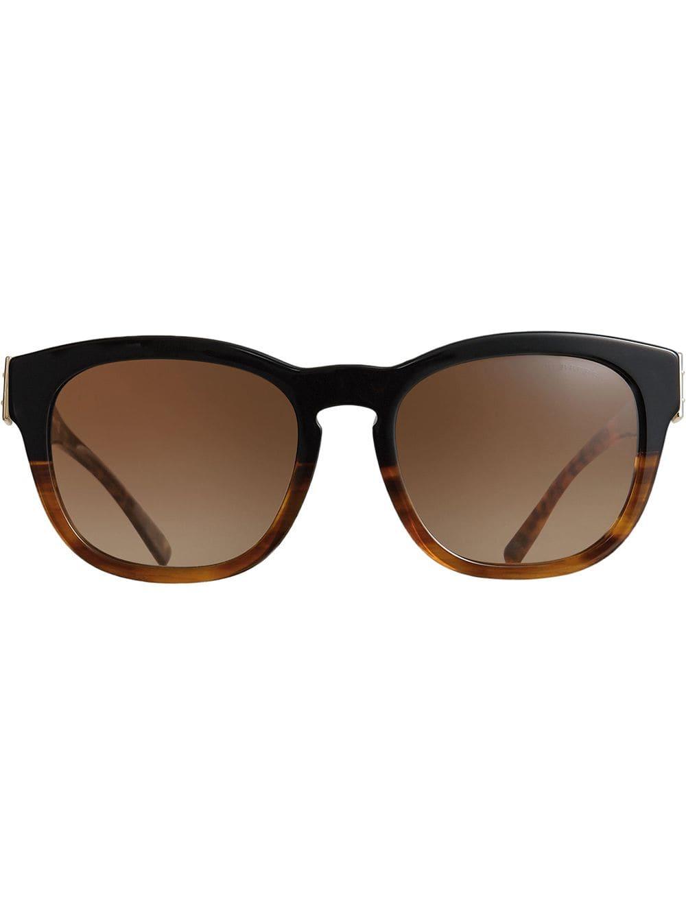 Burberry Eyewear Buckle Detail Square Frame Sunglasses - Black ... a8486e2a8b2