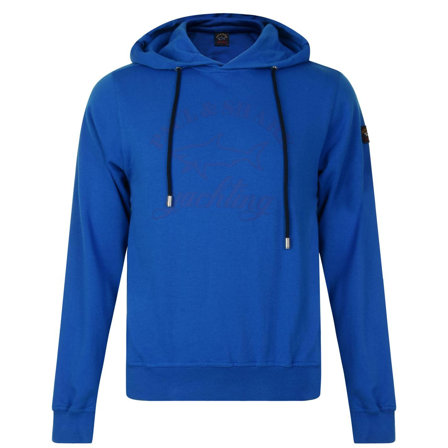 Paul And Shark Long Sleeved Hooded Sweatshirt Light Blue 424704 ... dddc0155f2d