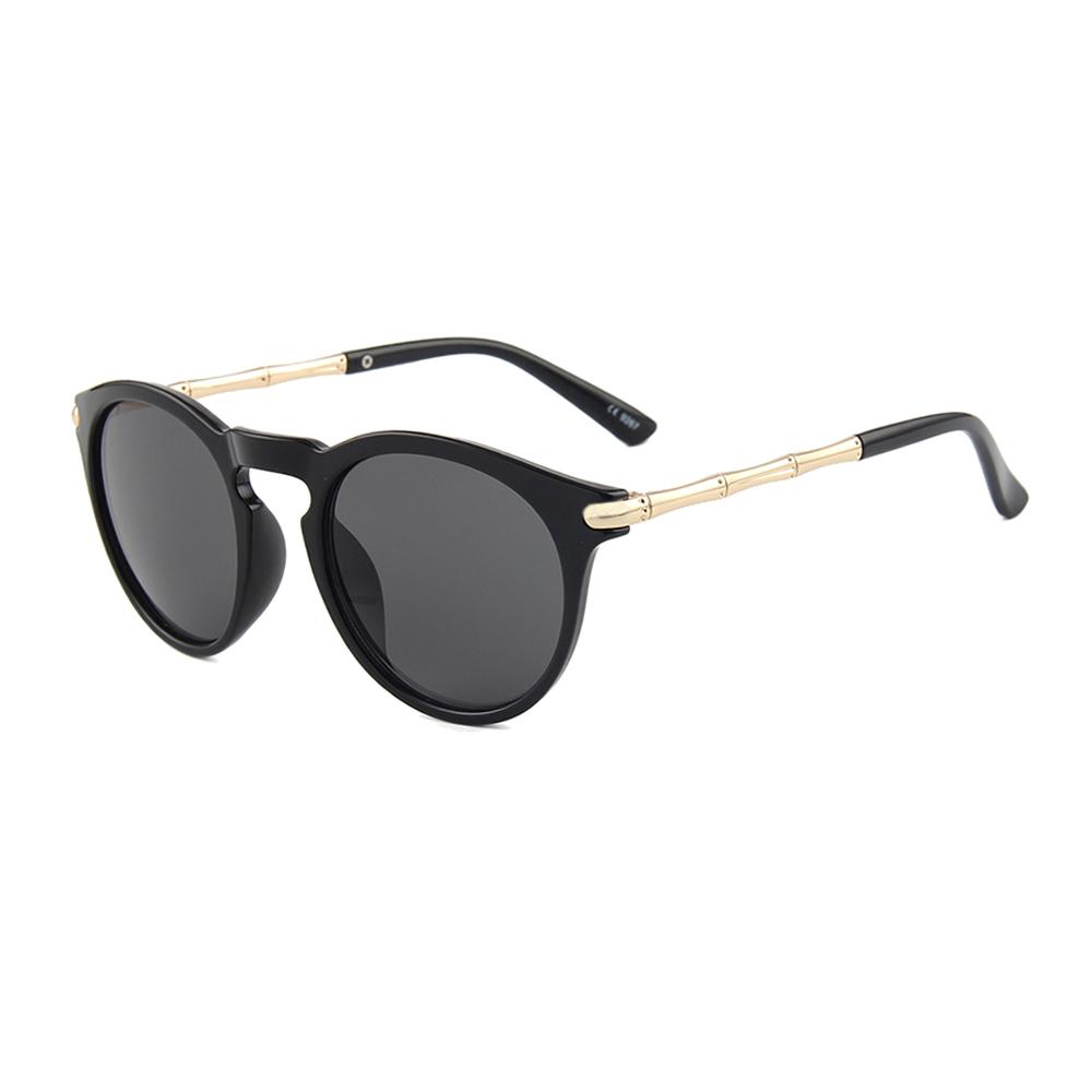 Hipsters Slnečné okuliare Keyhole Round Black - Glami.sk a816c7519b2