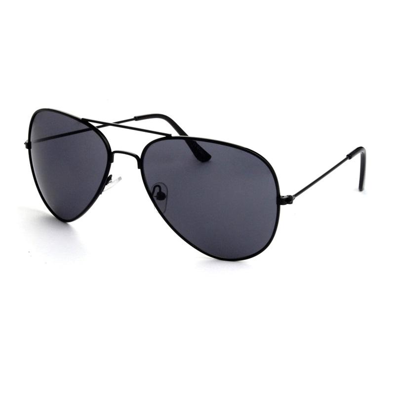 642a0976a Hipsters Slnečné okuliare Aviator Pilot Jet Black polarizačné čierne. Hipsters  Slnečné okuliare ...
