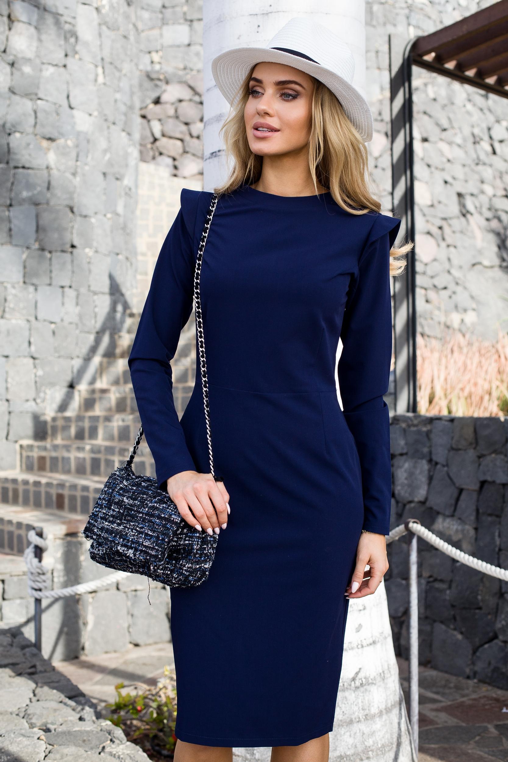 8edf7a034023 Tmavomodré šaty Style 078 - Glami.sk