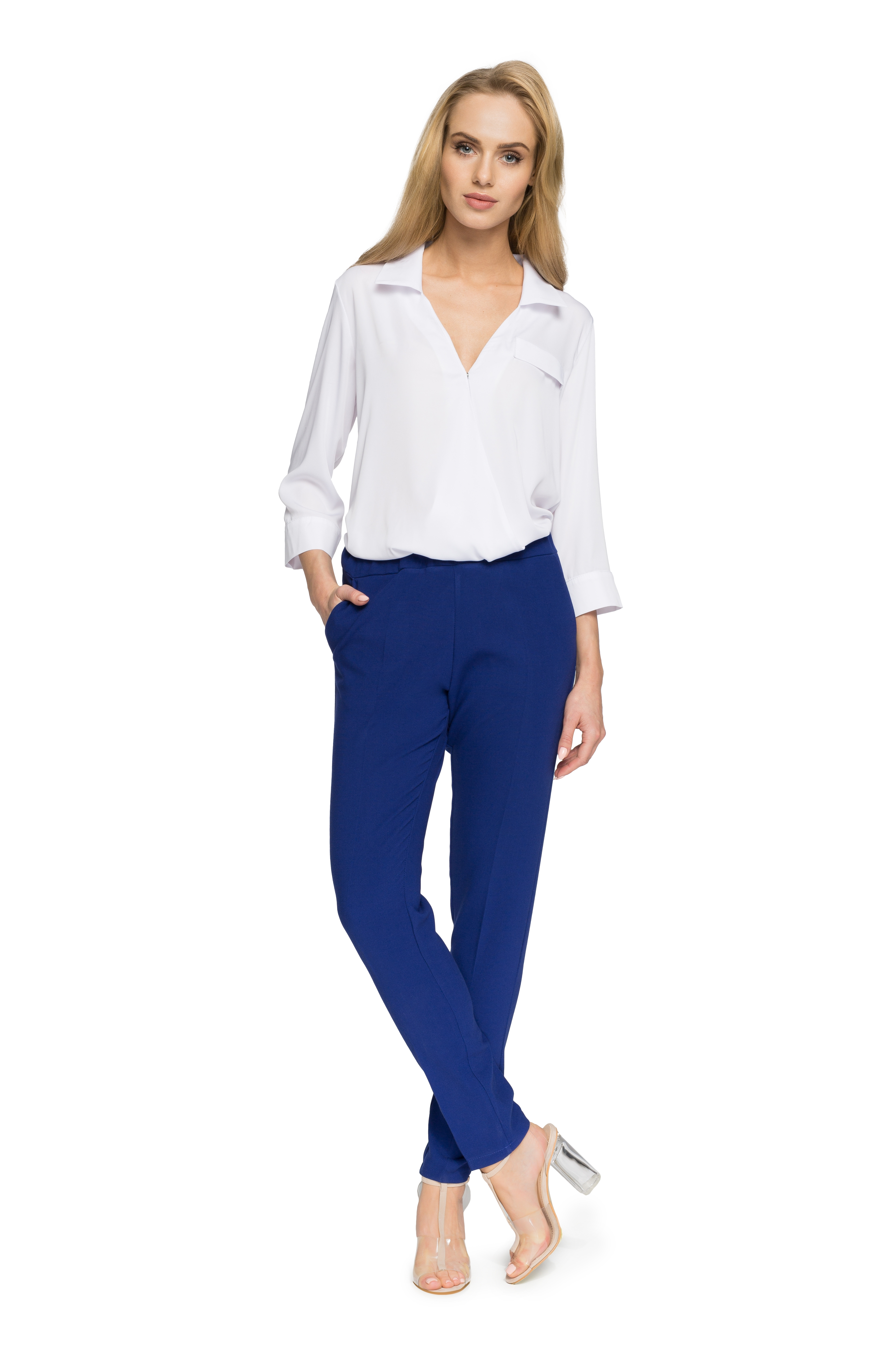 6ed76806486b Kráľovské modré nohavice Style 054 - Glami.sk