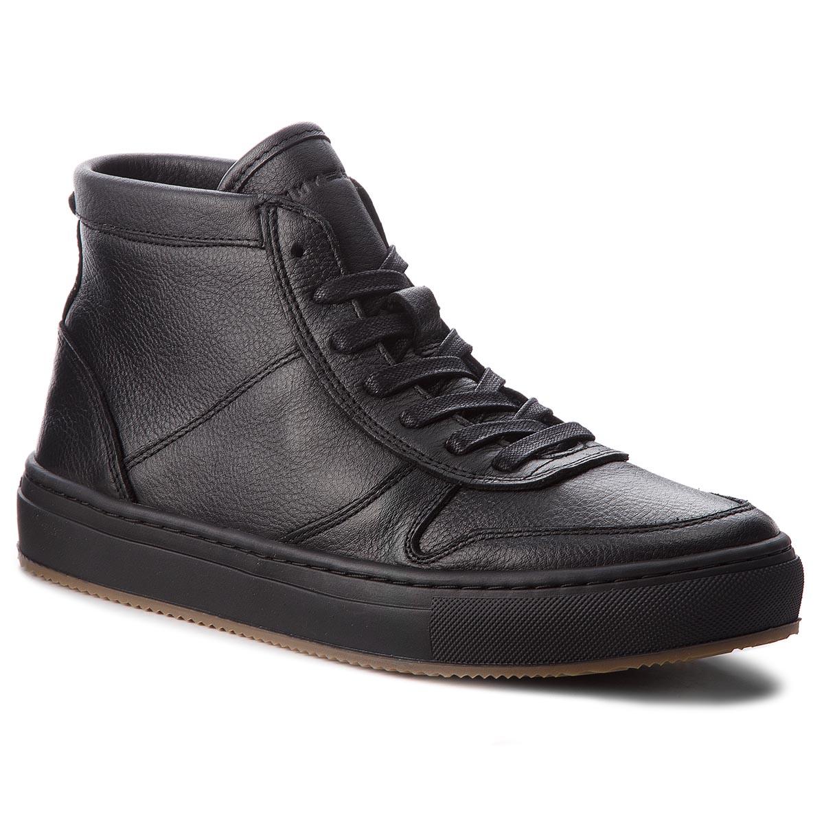 Bokacipő TOMMY HILFIGER - Pebbled Leather MId FM0FM01683 Black 990 ... 19424a14b2