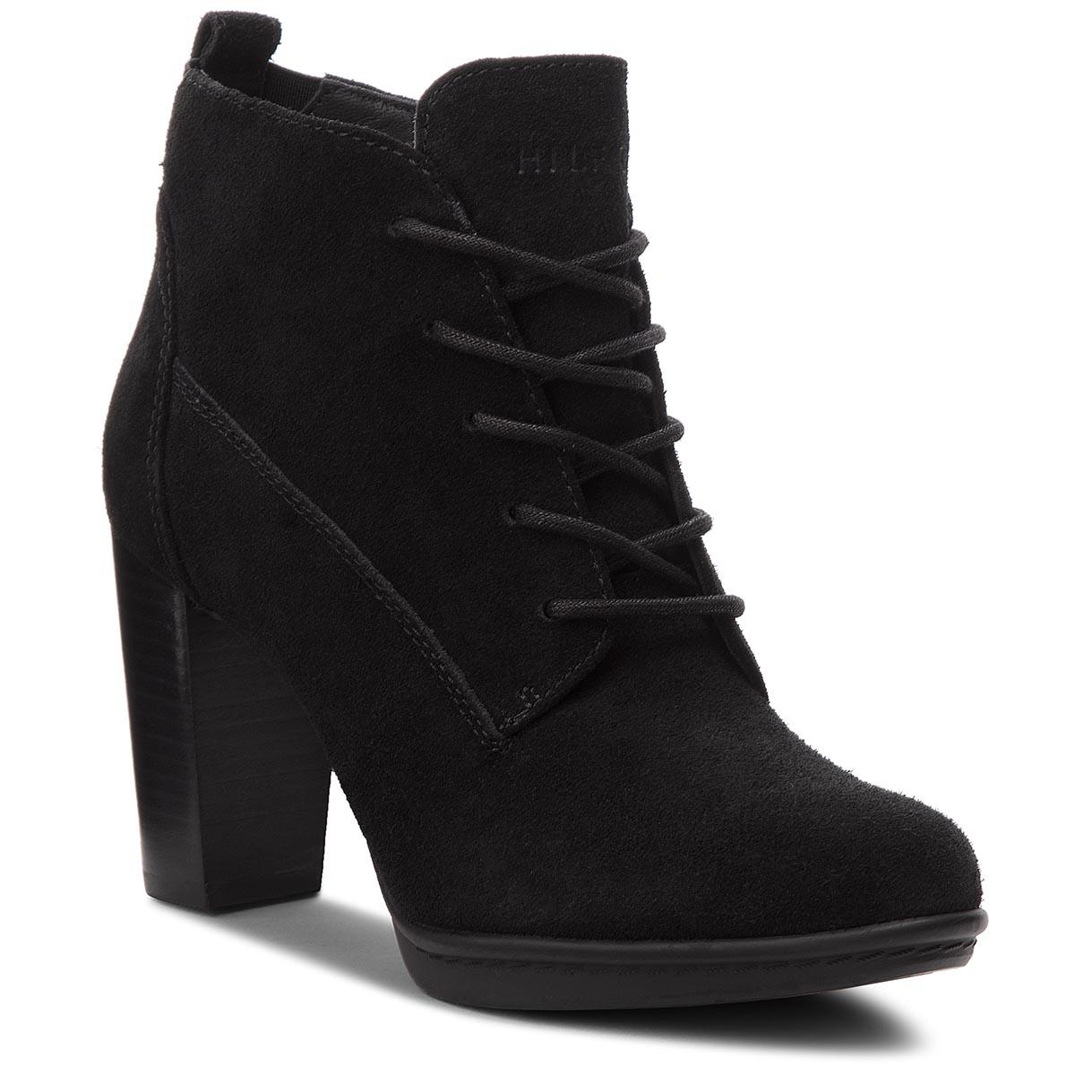 f366c8e697 ... obuv TOMMY HILFIGER - Basic Lace Up Heel B FW0FW03573 Black 990. -39%.  Členková ...