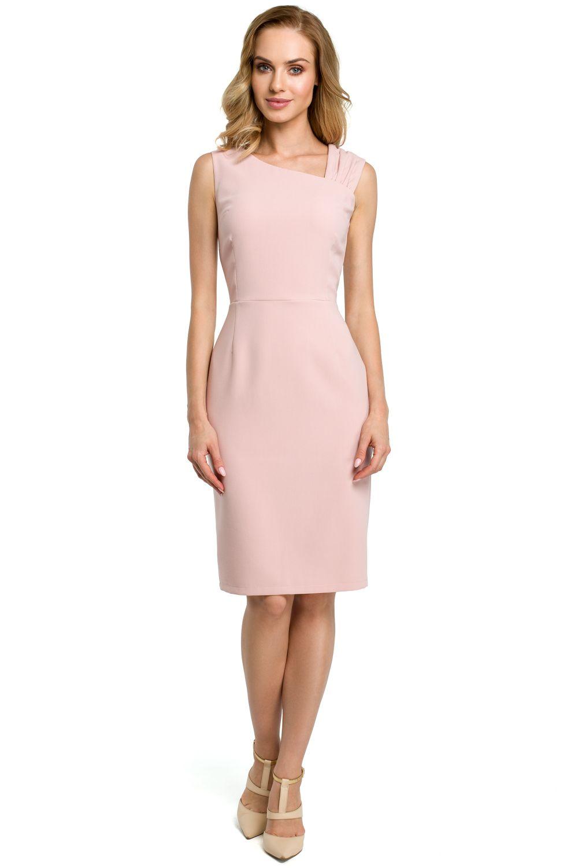 Dámske šaty MOE DM397 ružové - Glami.sk c8de95aabe2
