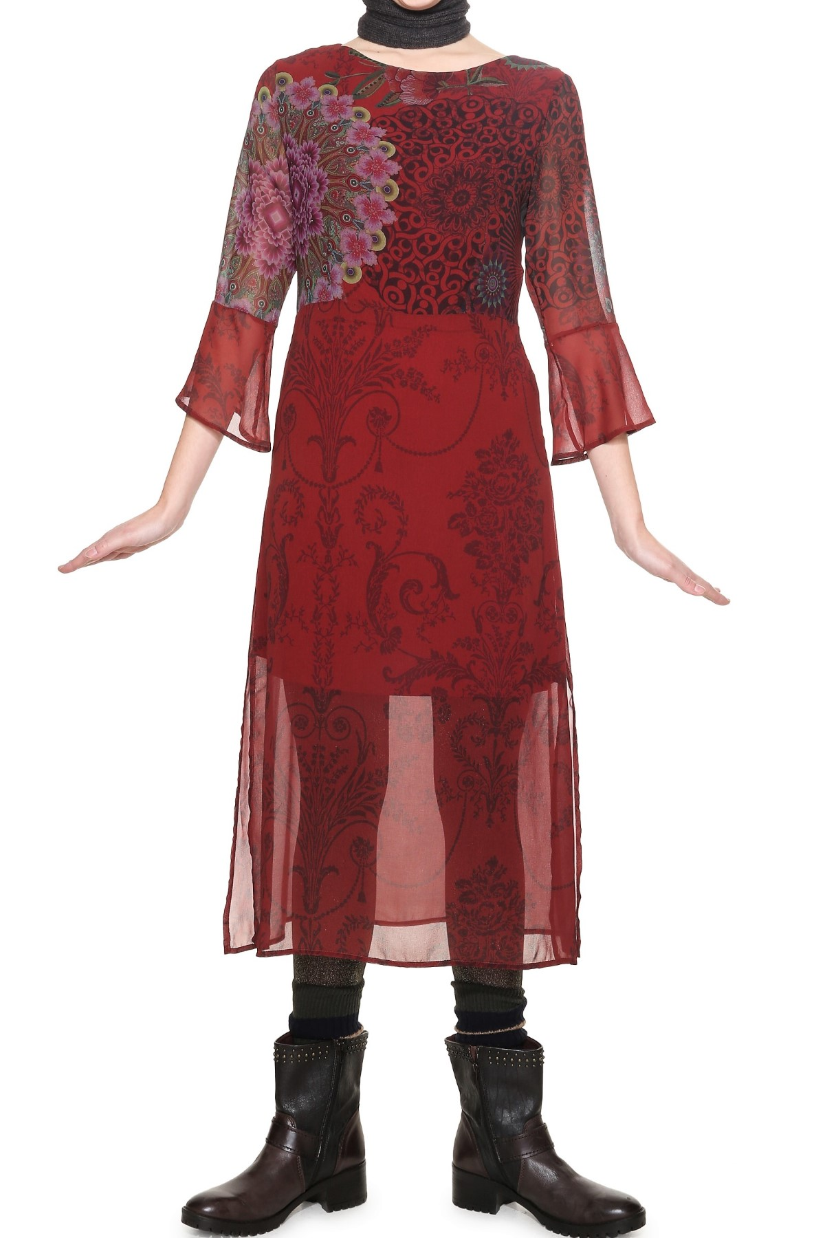 Desigual bordó ruha Ruby - Glami.hu ec8b2628f7