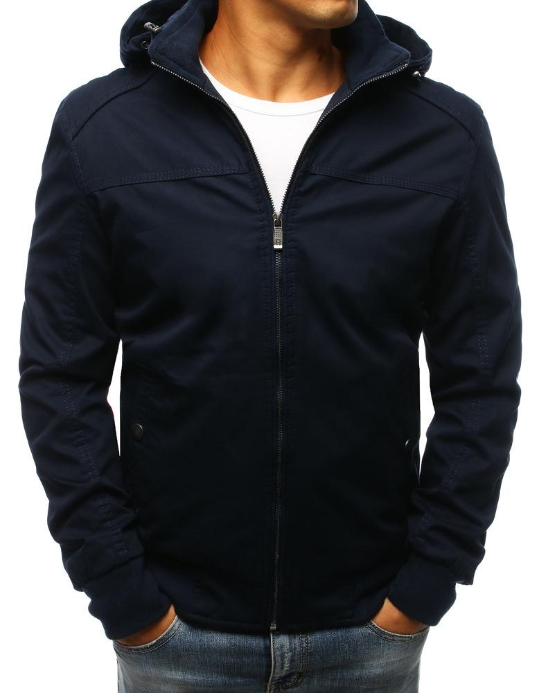 78e1db029af6 Brand Pánska prechodná bunda tmavo modrej farby s kapucňou (tx2260 ...