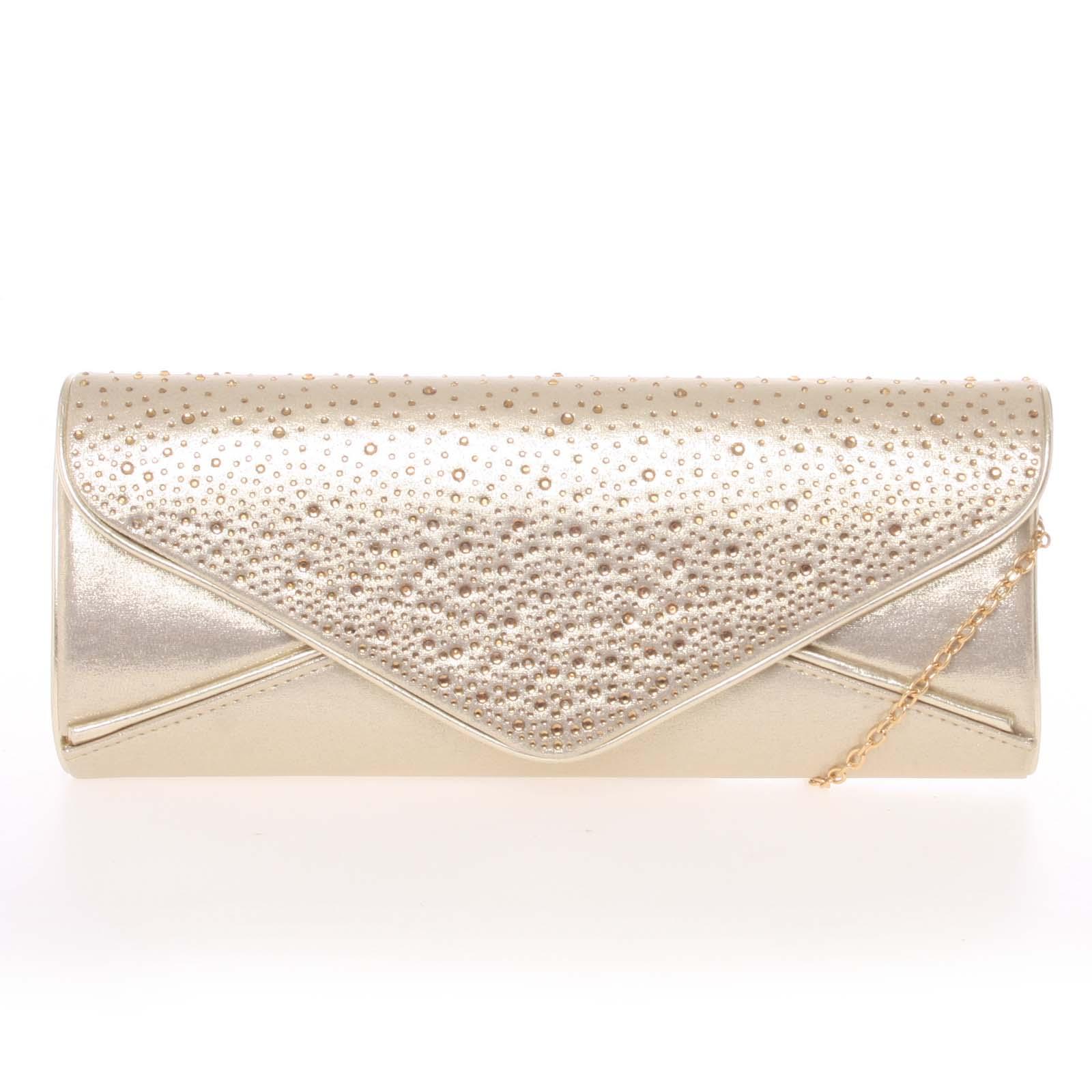415d47ba01 Exkluzívna dámska zlatá listová kabelka - Delami D547 zlatá - Glami.sk