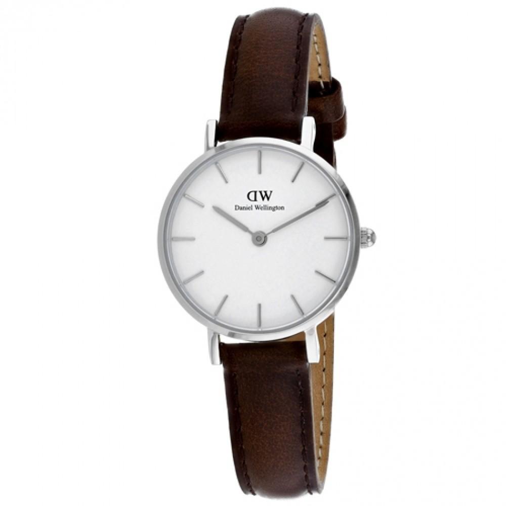 Nové Dámske hodinky s koženým remienkom a bielym ciferníkom s detailmi ... 0b442e45abe