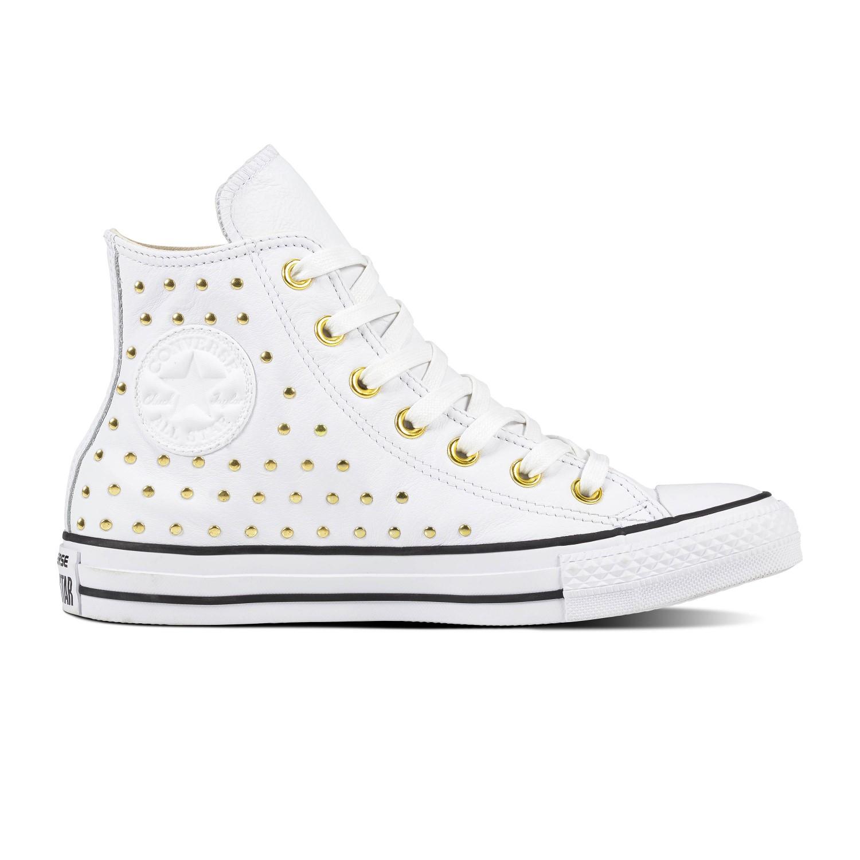 ... Converse bílé kotníkové tenisky se cvočky Chuck Taylor All Star Hi White Gold  - 41. -5% -40% 4fc0b857c1