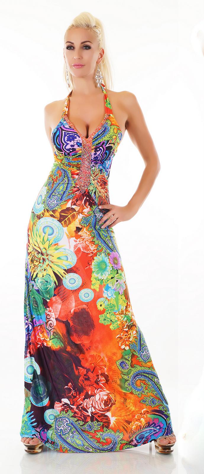 F   Girl Dámské šaty dlouhé - Glami.cz 2262380e6b