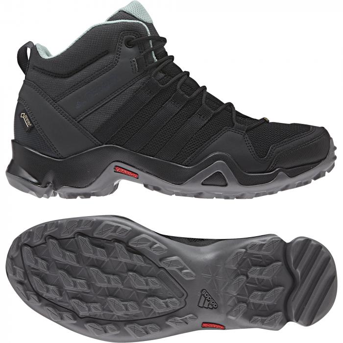 Clenkové topánky adidas Performance TERREX AX2R MID GTX W (Cierna Zelená)