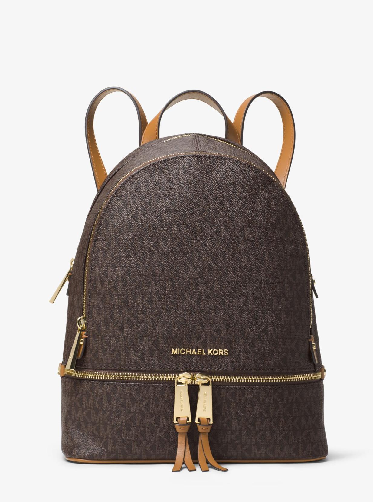 3b4cd09f78 Michael Kors Rhea Medium Backpack Brown - Glami.cz