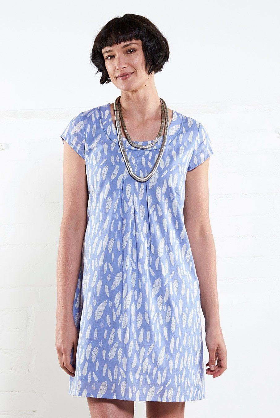 Nomads Tunikové šaty Feathers světle modré - Glami.cz 8451f43428