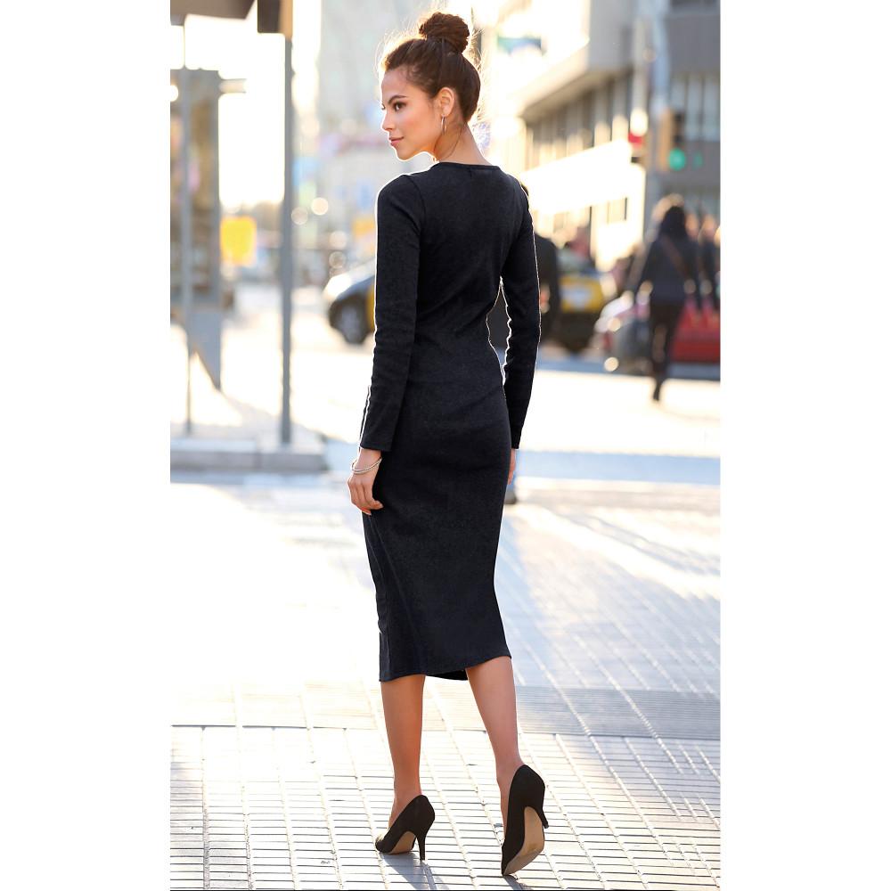 f7283afa40 VENCA Peletené šaty s lodičkovým výstrihom čierna M - Glami.sk