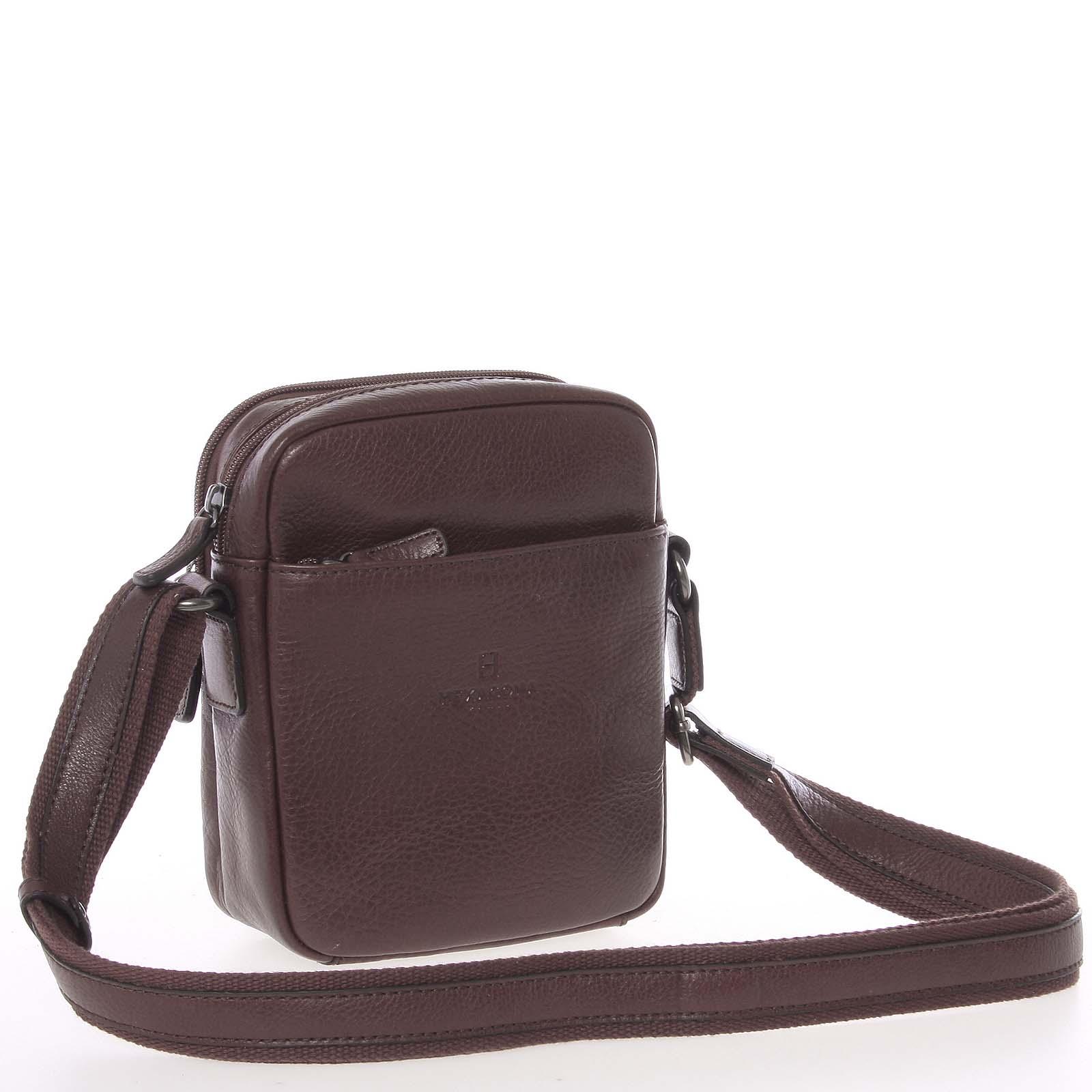08e54c906 Hnedá luxusná kožená taška na doklady Hexagona 123477 hnedá - Glami.sk