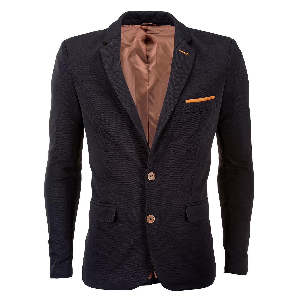 Ombre Clothing Pánske sako Filippo čierne - Glami.sk 09bb178eff2
