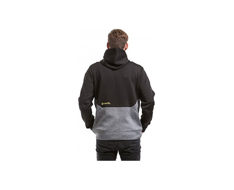 Meatfly Mikina Polygon 2 Technical Hoodie D - Black Heather Grey ... 05375a979c