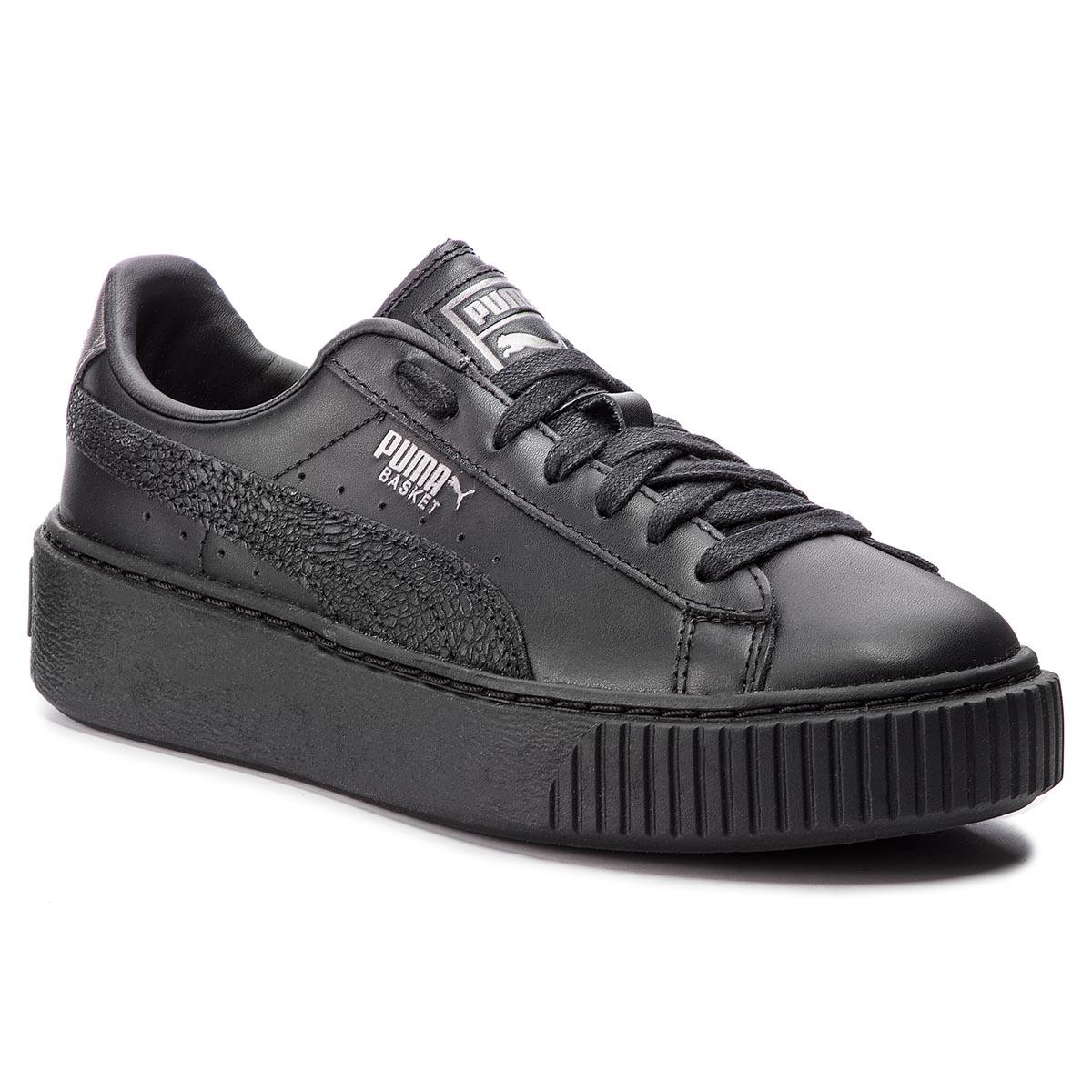 Sneakersy PUMA - Basket Platform Euphoria Metal 367850 02 Puma Black ... 9f4075b13d8