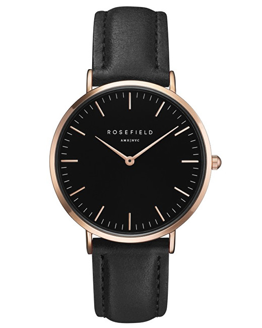 Rosefield THE BOWERY Black Black Rose gold - Glami.cz 2968d20ca65