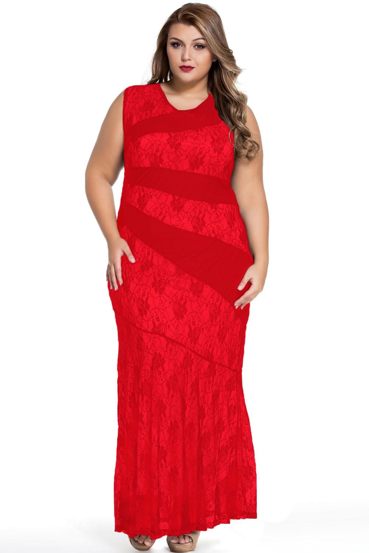LM moda A Elegantní dlouhé červené šaty s krajkou 0473 - Glami.cz 246e64d268