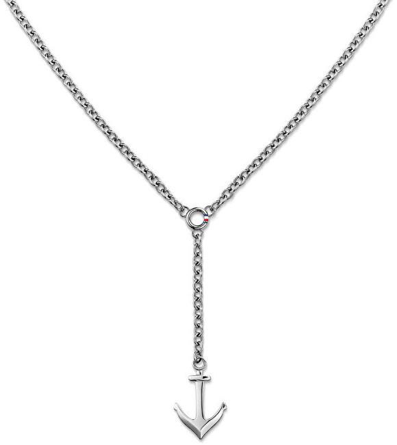 553f2f1fc Tommy Hilfiger Ocelový náhrdelník s kotvou TH2700921 - Glami.cz