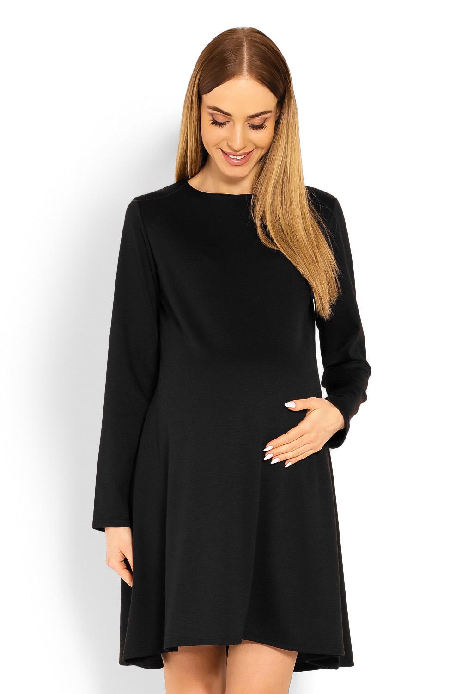 e47c6234029d Peekaboo Čierne tehotenské áčkové šaty PKB1359C - Glami.sk