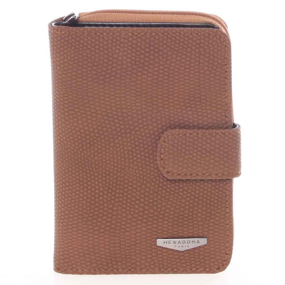 62bfd5c098 Originálna dámska dvojdielna hnedá peňaženka - HEXAGONA Reezzi hnedá ...