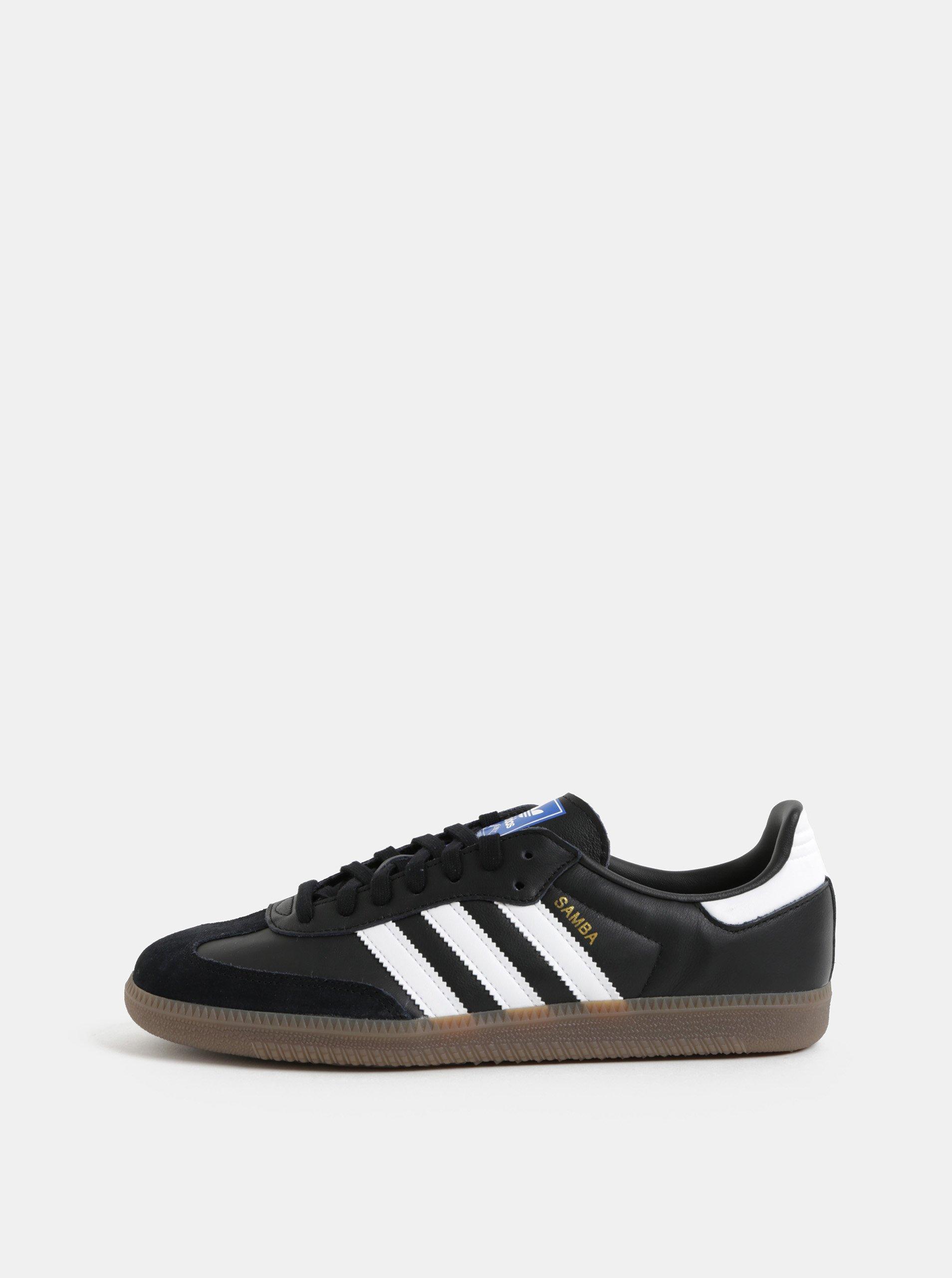 Čierne pánske kožené tenisky adidas Originals Samba. Čierne pánske kožené tenisky  adidas Originals Samba. Čierne pánske kožené tenisky ... 45340811bc0
