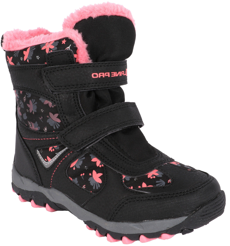 52e1d2a26ef6 ALPINE PRO Dívčí zimní boty Wano - černo-růžové - Glami.cz