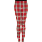 Topshop Red Check Treggings