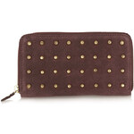 Topshop Gold Stud Zip Leather Purse
