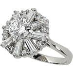 Topshop Premium Rhinestone Ring