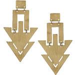 Topshop Jigsaw Gold Drops