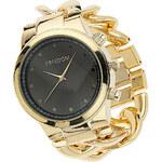 Topshop Gold Curb Chain Watch
